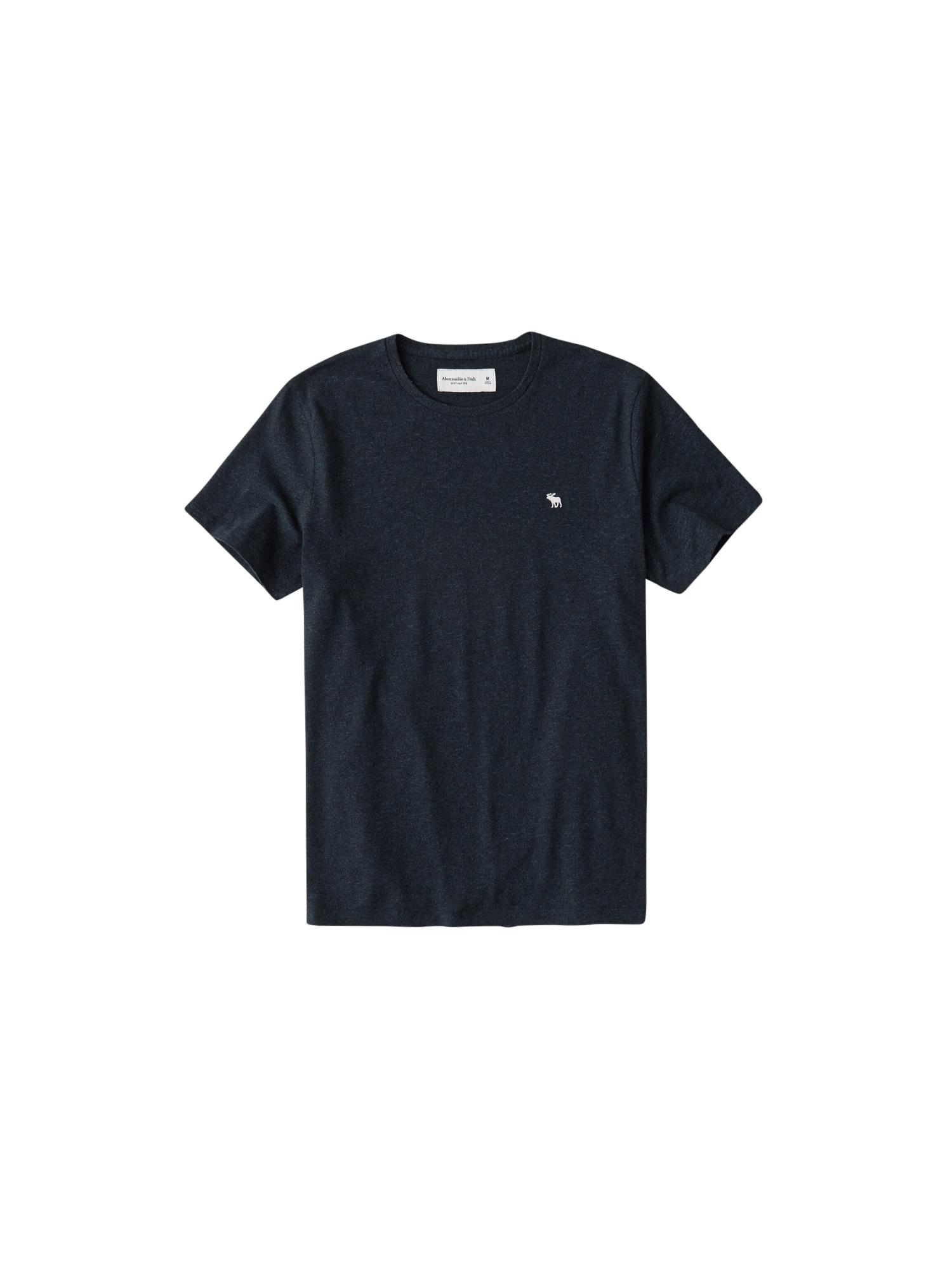 Abercrombie & Fitch Marškinėliai tamsiai mėlyna