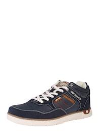 Herren Sneaker im Leder-Mix blau | 04050283683885