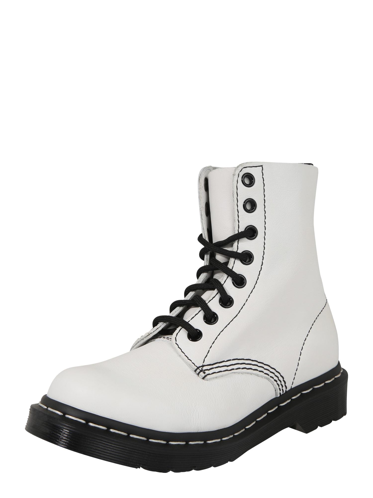 Dr. Martens Suvarstomieji batai juoda / balta