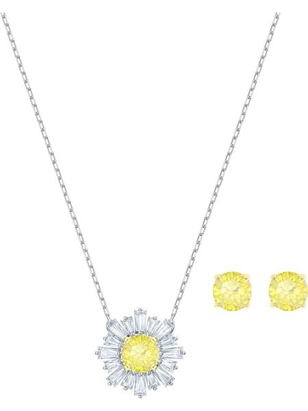 Schmucksets für Frauen - Swarovski Schmuckset 'Sunshine 5480464' gelb silber transparent  - Onlineshop ABOUT YOU