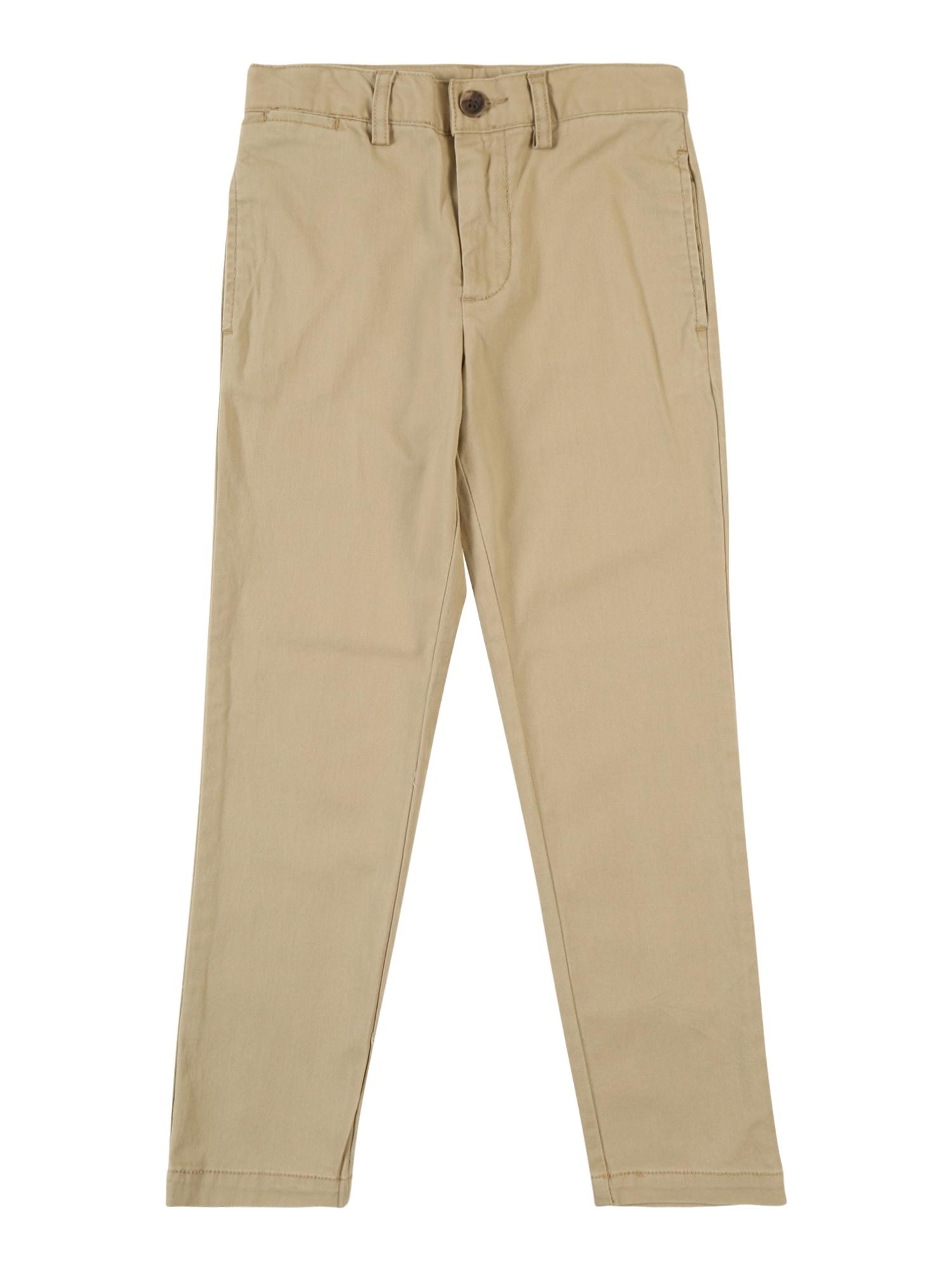Kalhoty FLAT FRONT khaki POLO RALPH LAUREN