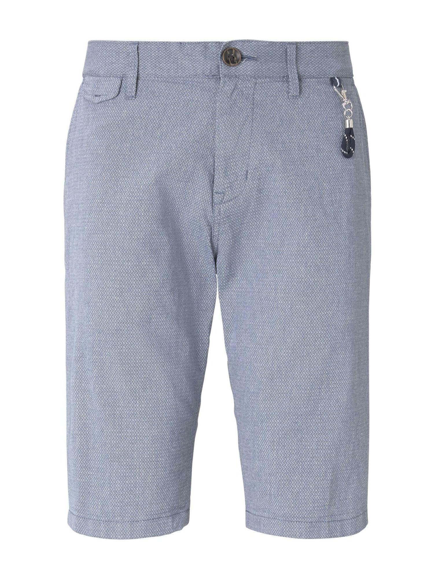 TOM TAILOR Chino nohavice  modrosivá / biela
