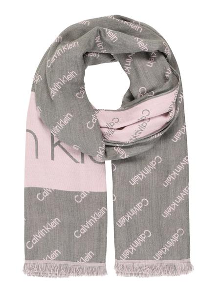 Schals - Schal 'LOGO JAQUARD SCARF' › Calvin Klein › grau  - Onlineshop ABOUT YOU