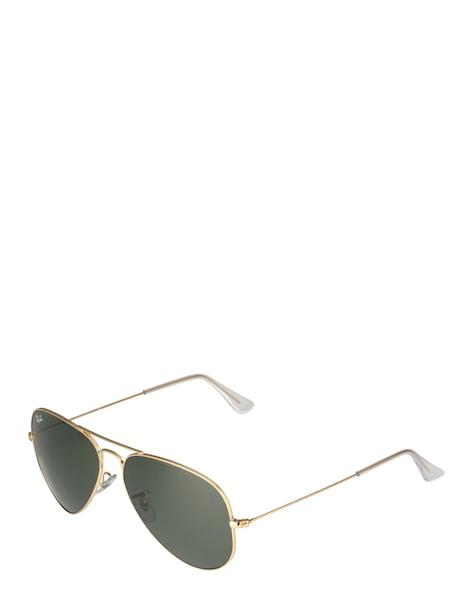 Sonnenbrillen für Frauen - Piloten Sonnenbrille 'Aviator' › Ray Ban › gold grau  - Onlineshop ABOUT YOU