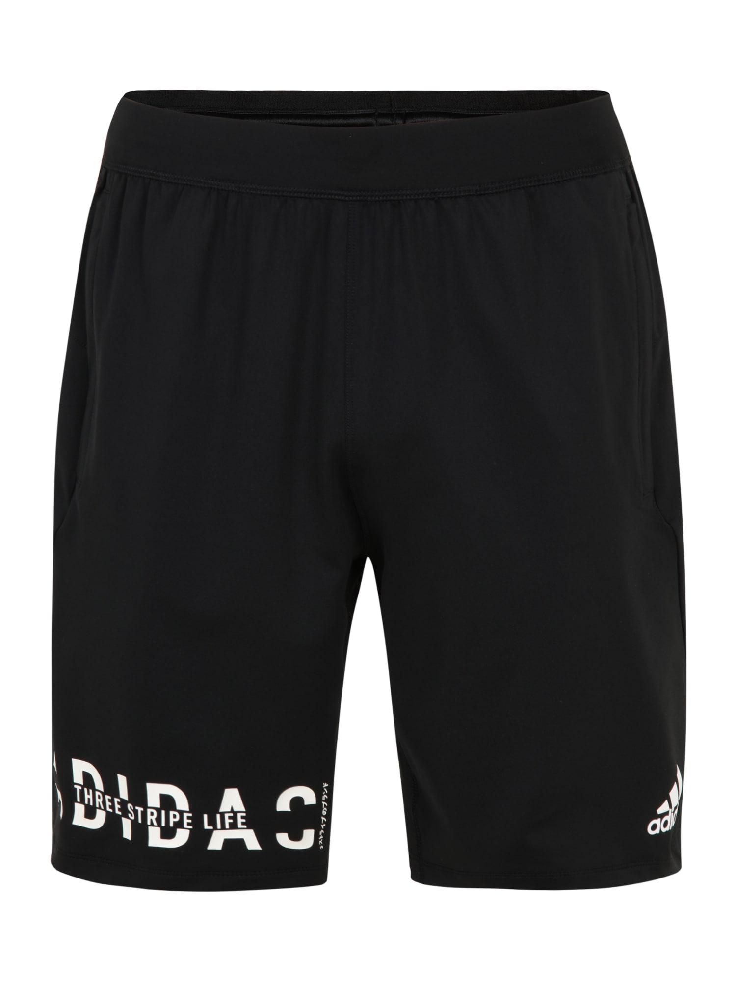 ADIDAS PERFORMANCE Sportinės kelnės '4K HYPER' juoda / balta