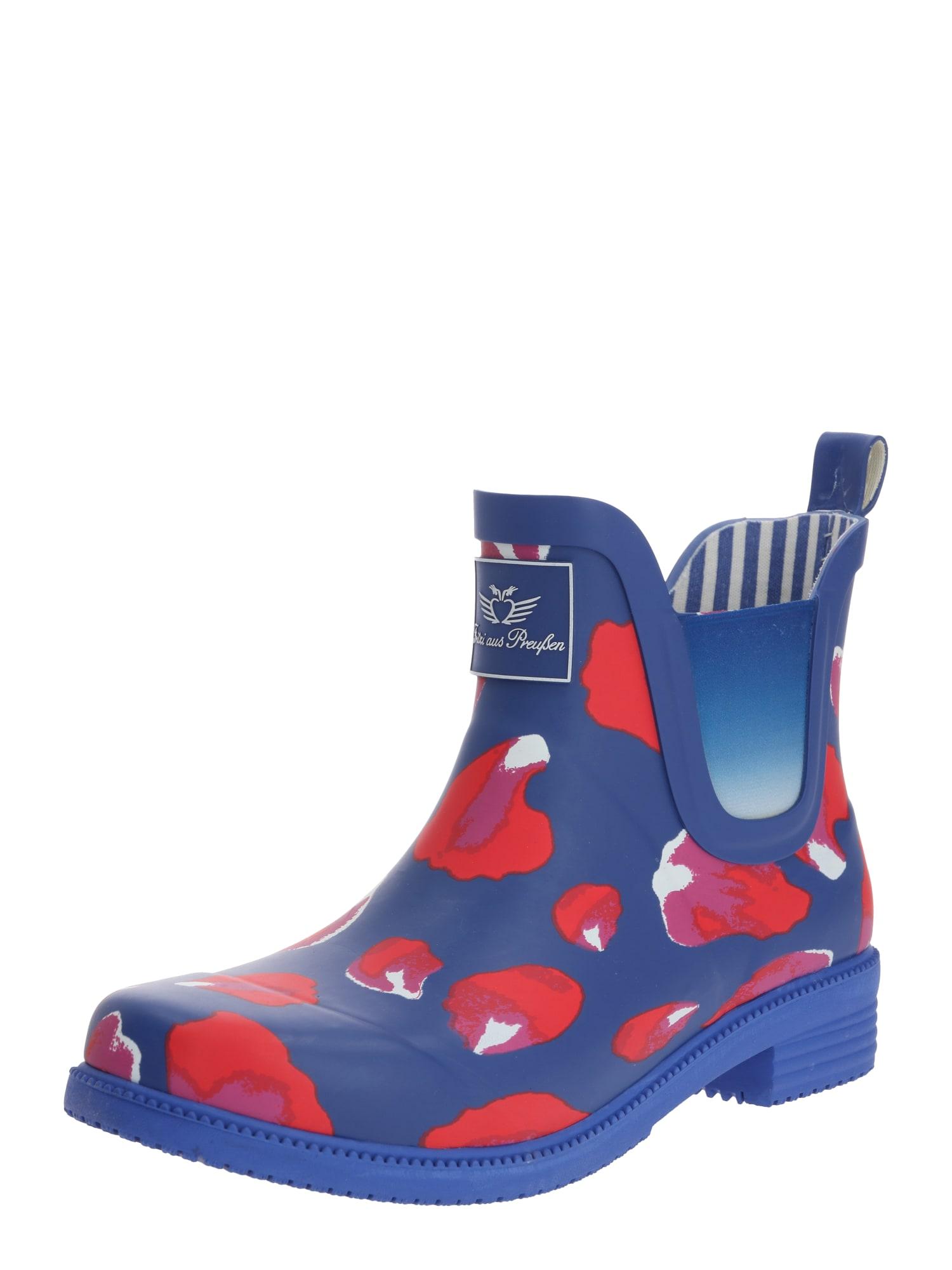 Fritzi aus Preußen Guminiai batai 'Amrei' mėlyna / raudona / balta / šviesiai violetinė