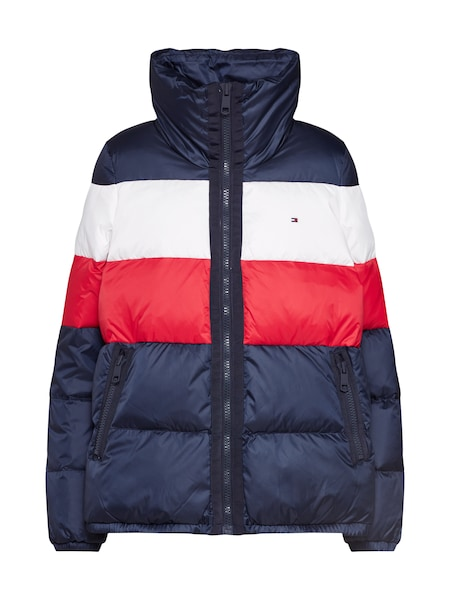 Jacken - Jacke 'NAOMI RECYCLED DOWN JKT' › Tommy Hilfiger › dunkelblau rot weiß  - Onlineshop ABOUT YOU
