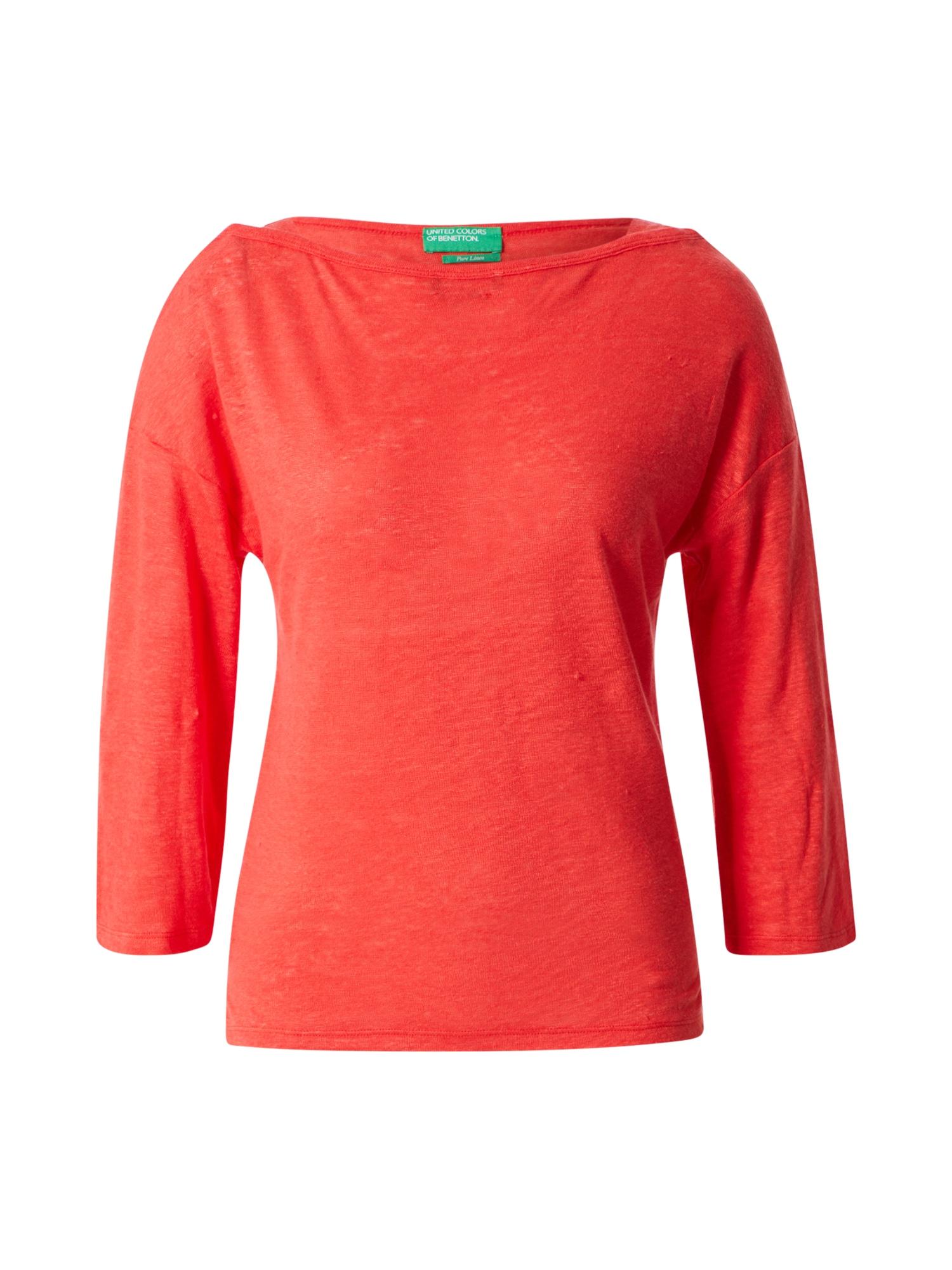 UNITED COLORS OF BENETTON Tričko  oranžově červená