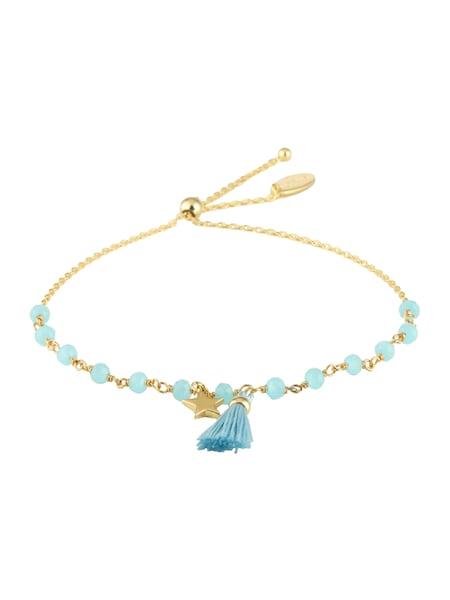 Armbaender für Frauen - Orelia Armband 'Beaded Star Tassel Adjustable' blau gold  - Onlineshop ABOUT YOU