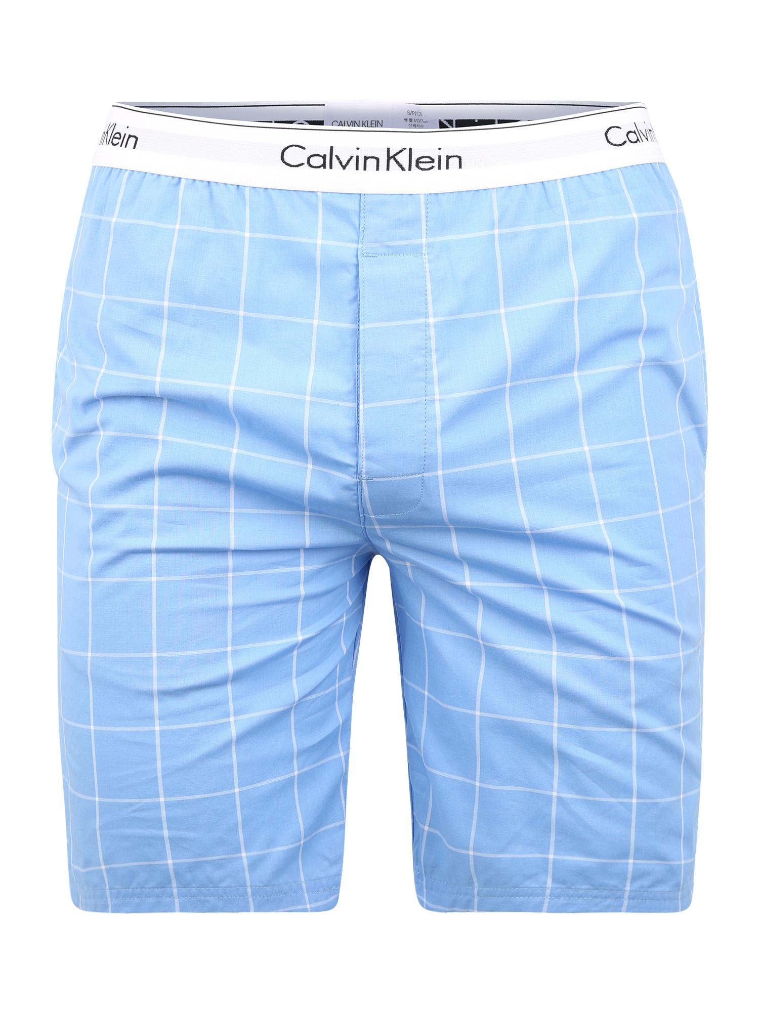 Calvin Klein Underwear Pižaminės kelnės balta / mėlyna