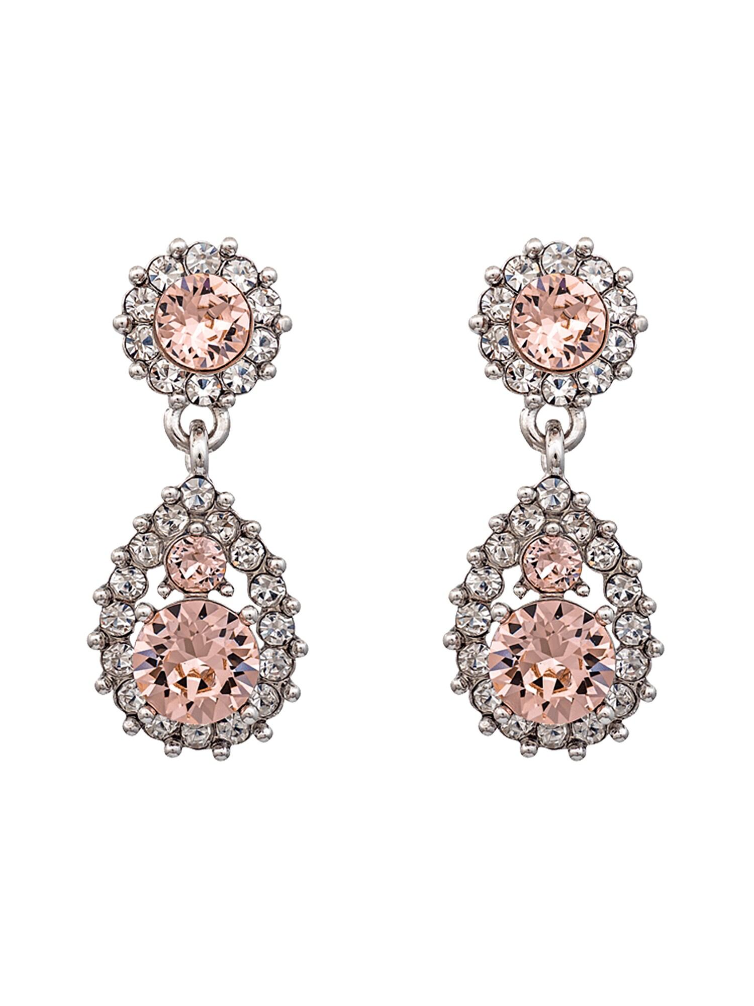 Náušnice Sofia růžová stříbrná LILY AND ROSE