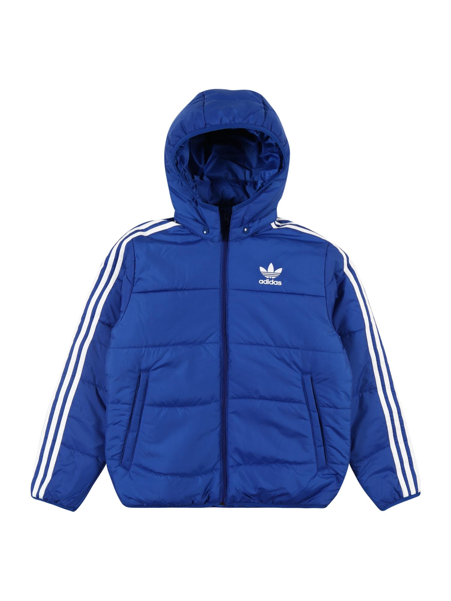 ADIDAS ORIGINALS Žieminė striukė mėlyna / balta