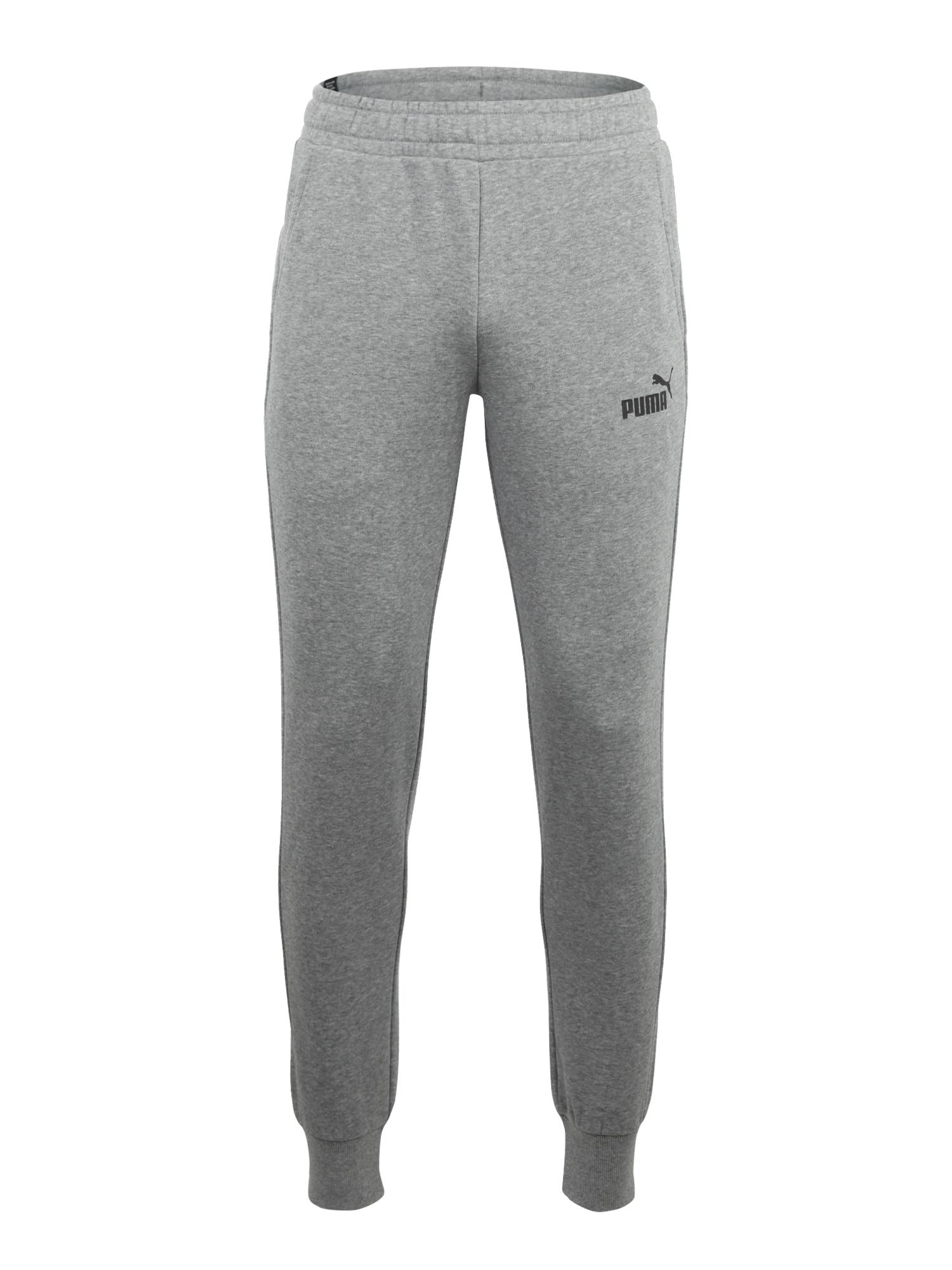 PUMA Sportinės kelnės juoda / pilka