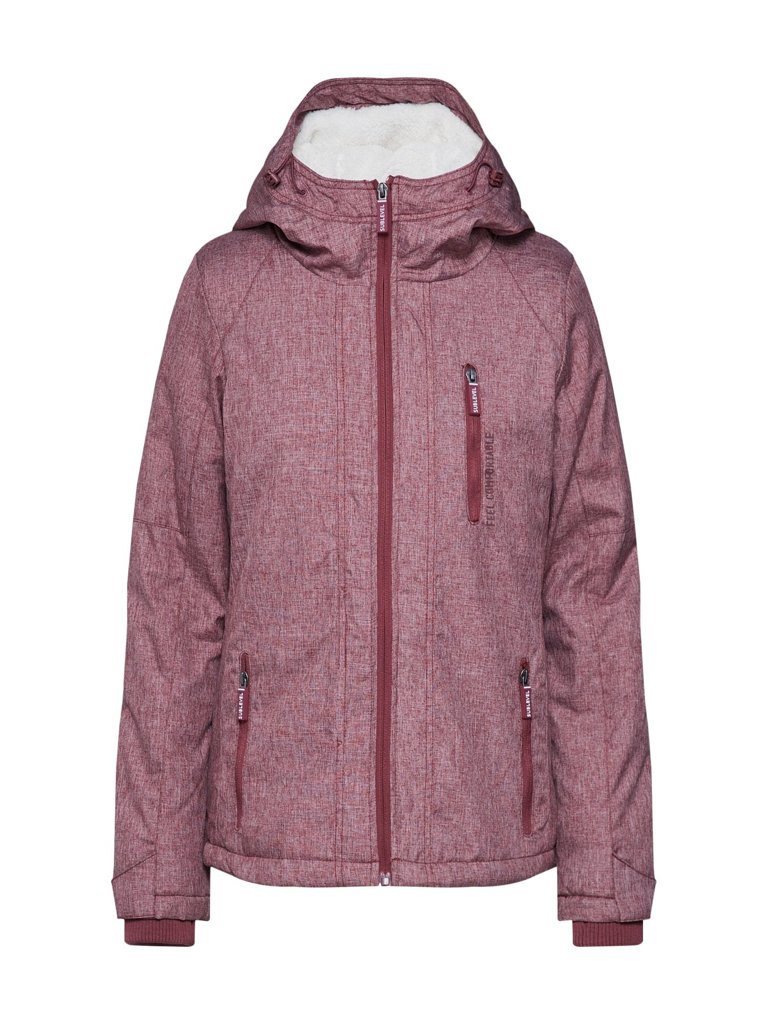 Přechodná bunda Ladie´s winter jacket vínově červená přírodní bílá Sublevel