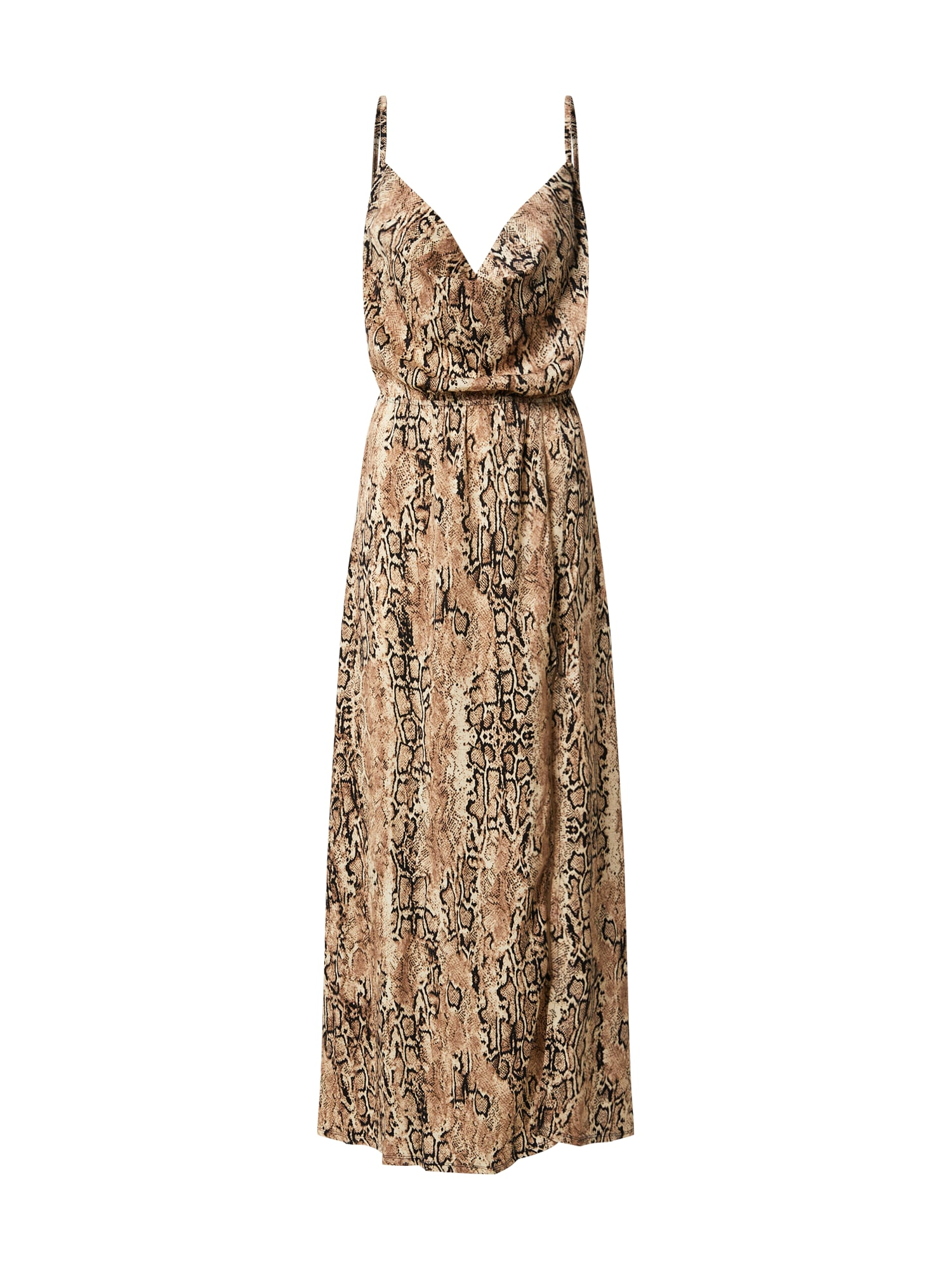 TFNC Vasarinė suknelė 'Allegra' juoda / smėlio / gelsvai pilka spalva