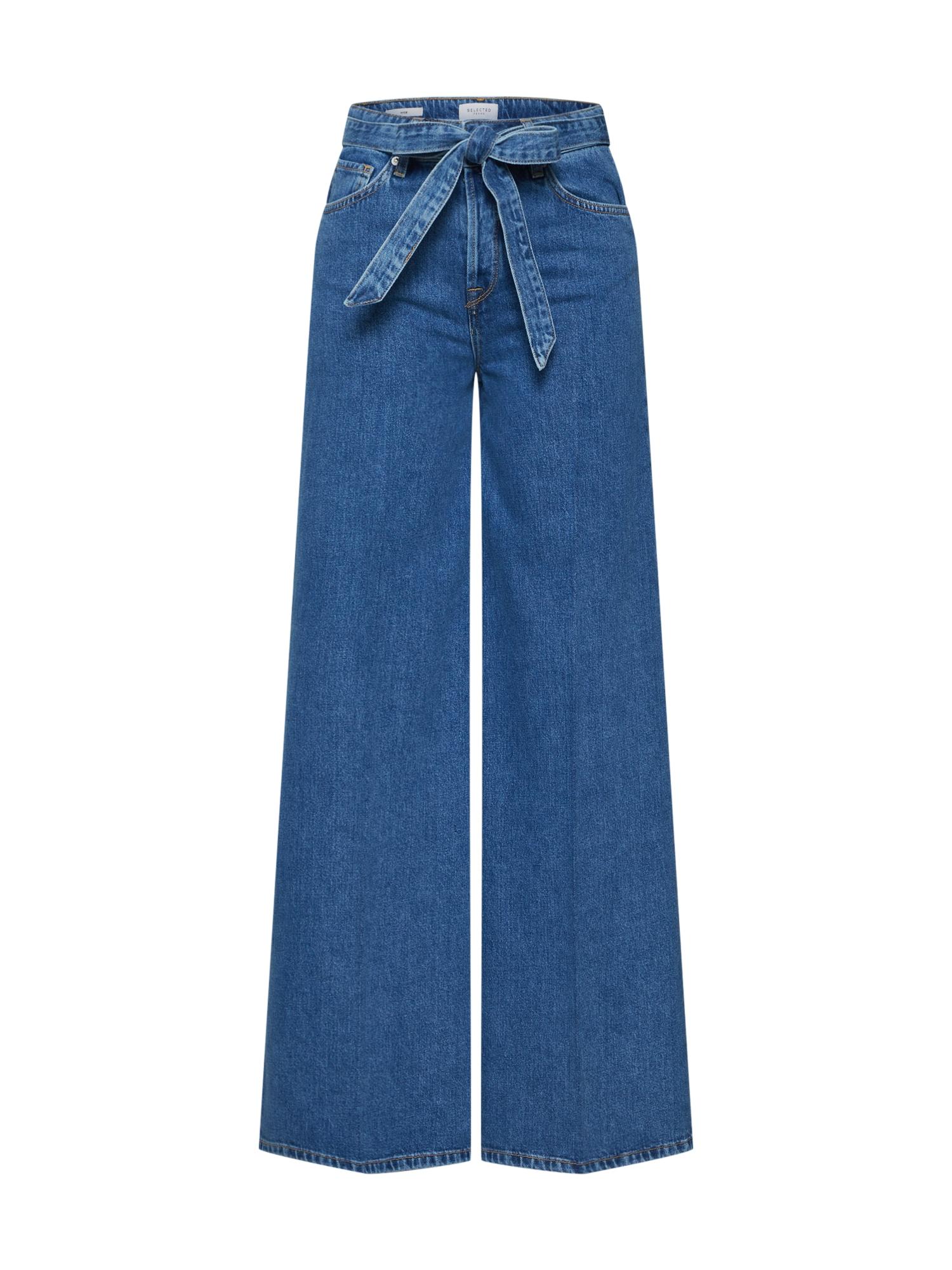 SELECTED FEMME Džinsai 'SLFLAURA' tamsiai (džinso) mėlyna
