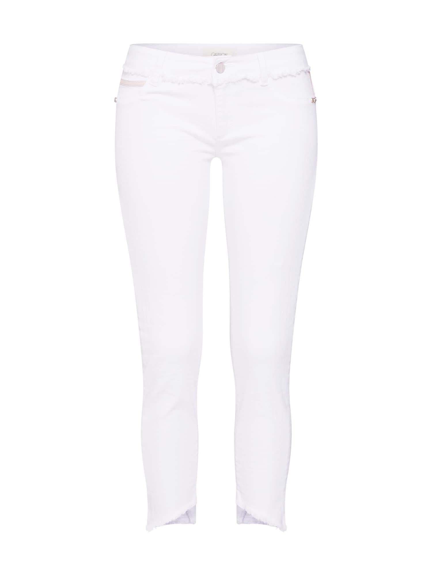 Kalhoty bílá džínovina Cartoon
