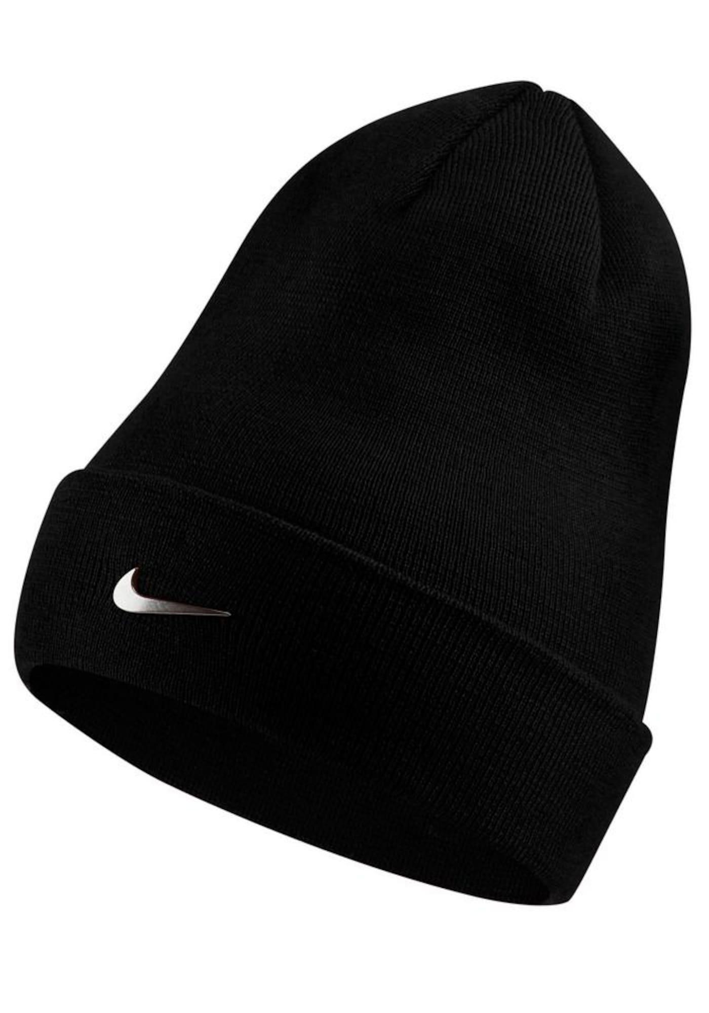Nike Sportswear Megzta kepurė juoda / balta