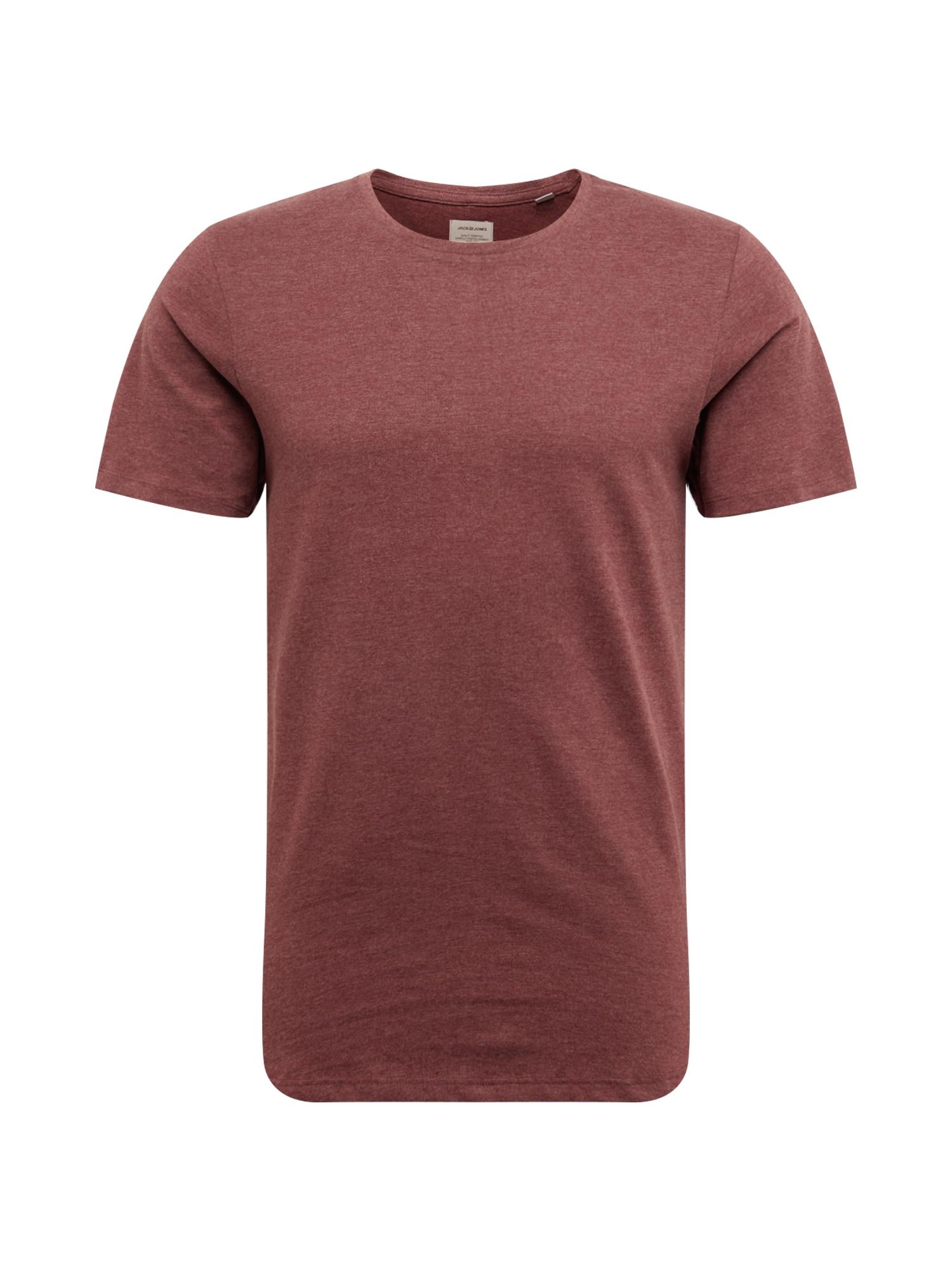 Tričko EHUGO vínově červená JACK & JONES
