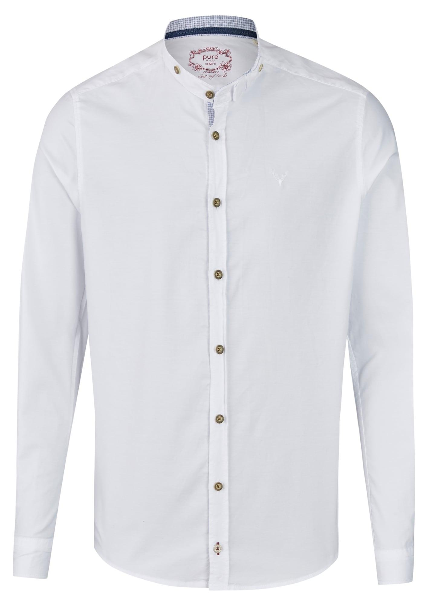 Herren Pure Trachtenhemd weiß | 04059825612420
