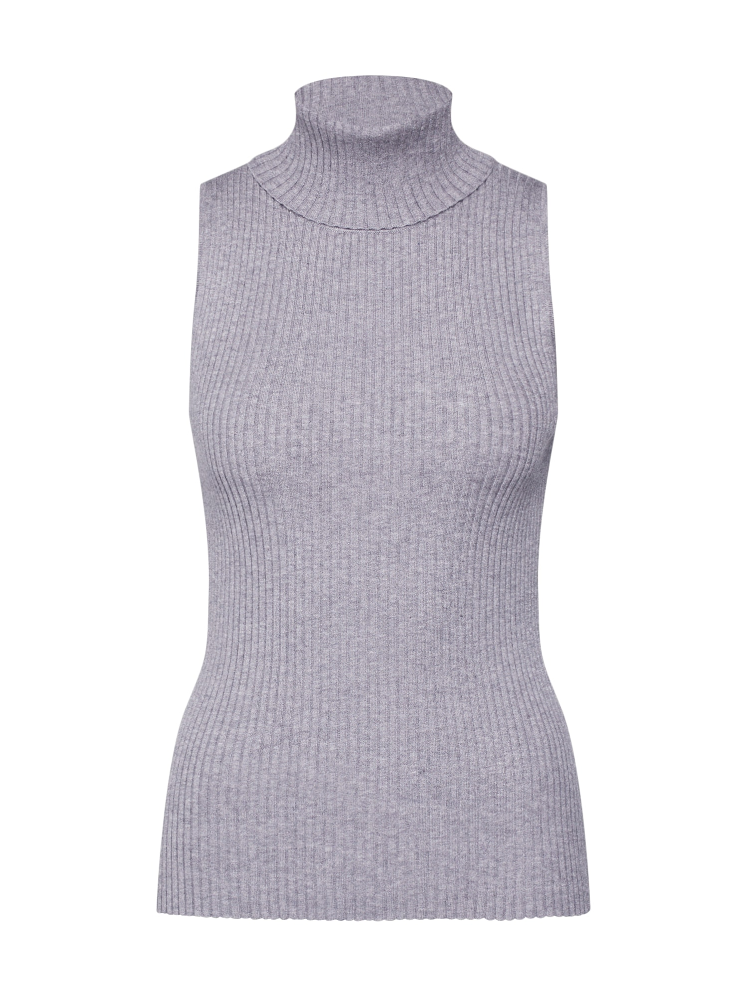 Banana Republic Megzta palaidinė be rankovių 'BEST SLEEVELESS RIBBED TURTLENECK' margai pilka