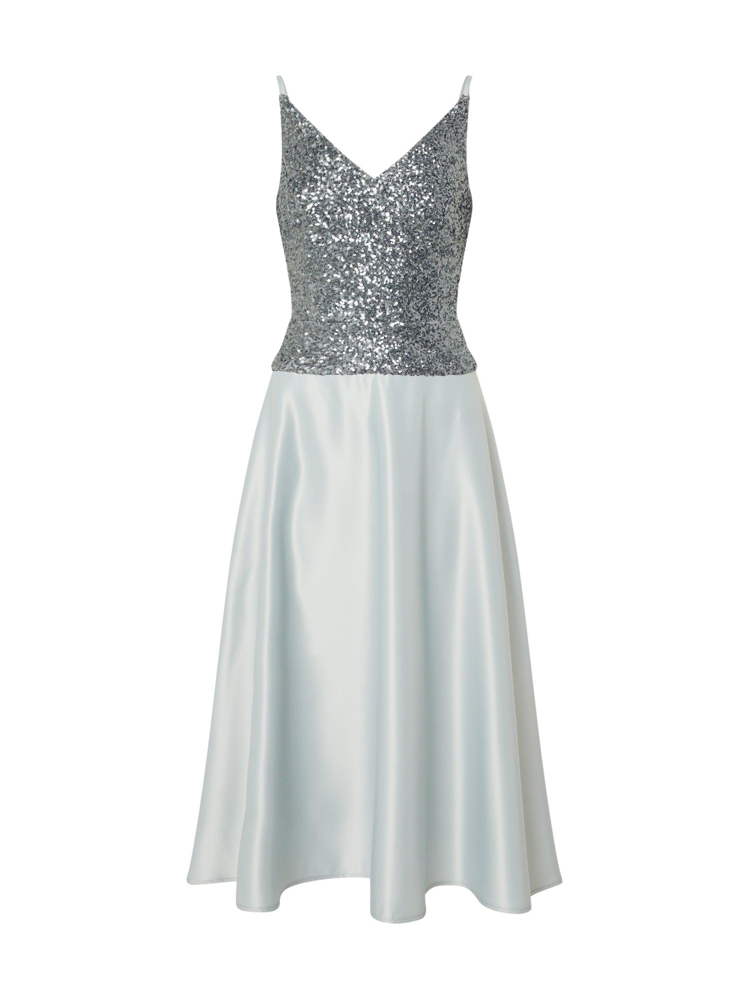 SWING Kokteilinė suknelė vandens spalva / sidabro pilka