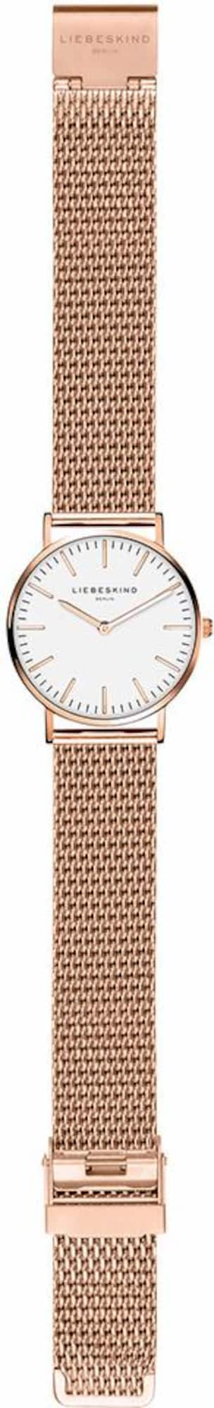 Liebeskind Berlin, Damen Analoog horloge New Case, LT-0077-MQ, rose-goud