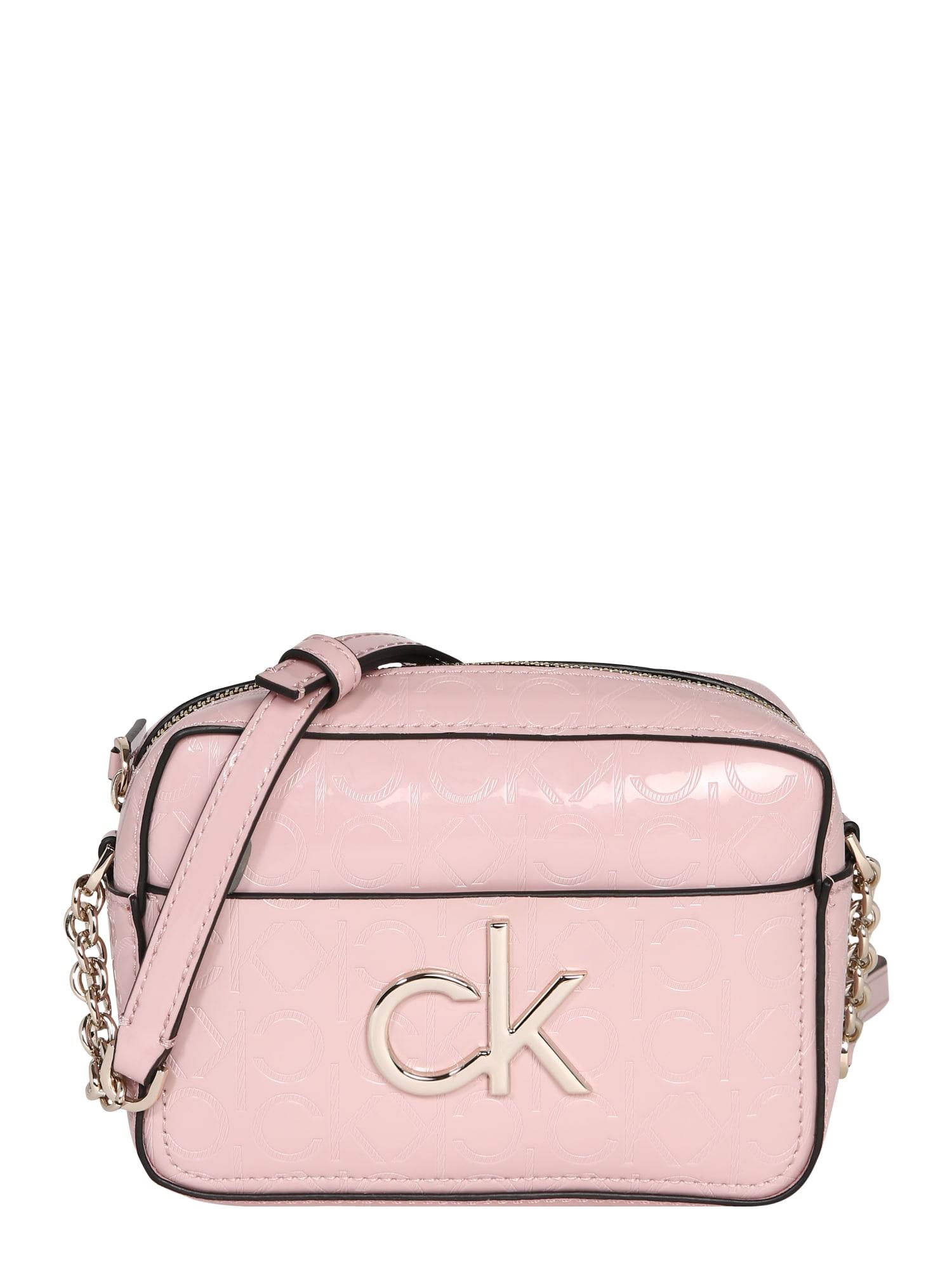 Calvin Klein Taška cez rameno 'RE-LOCK EM CAMERA'  ružová