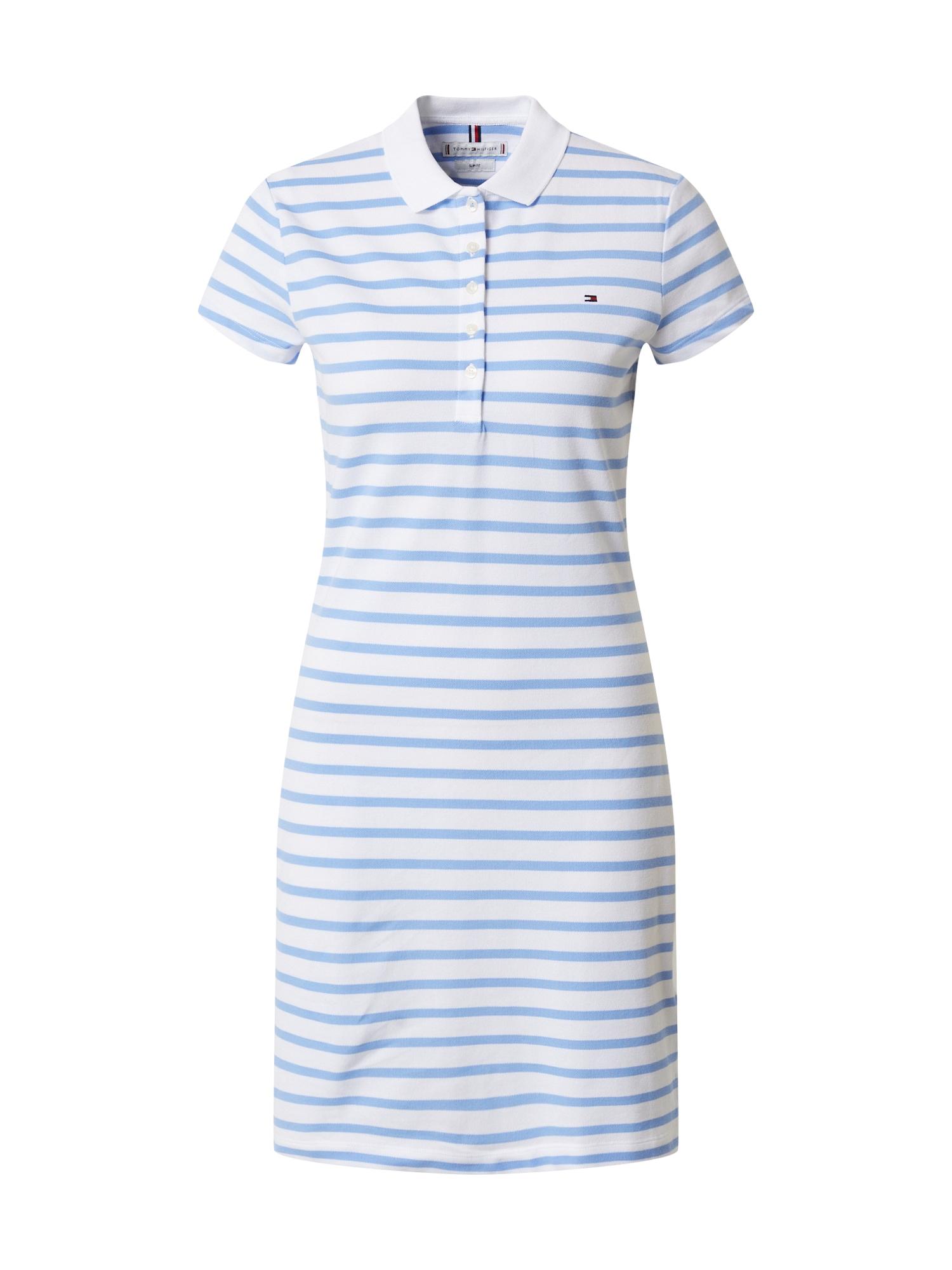 TOMMY HILFIGER Košeľové šaty  biela / svetlomodrá