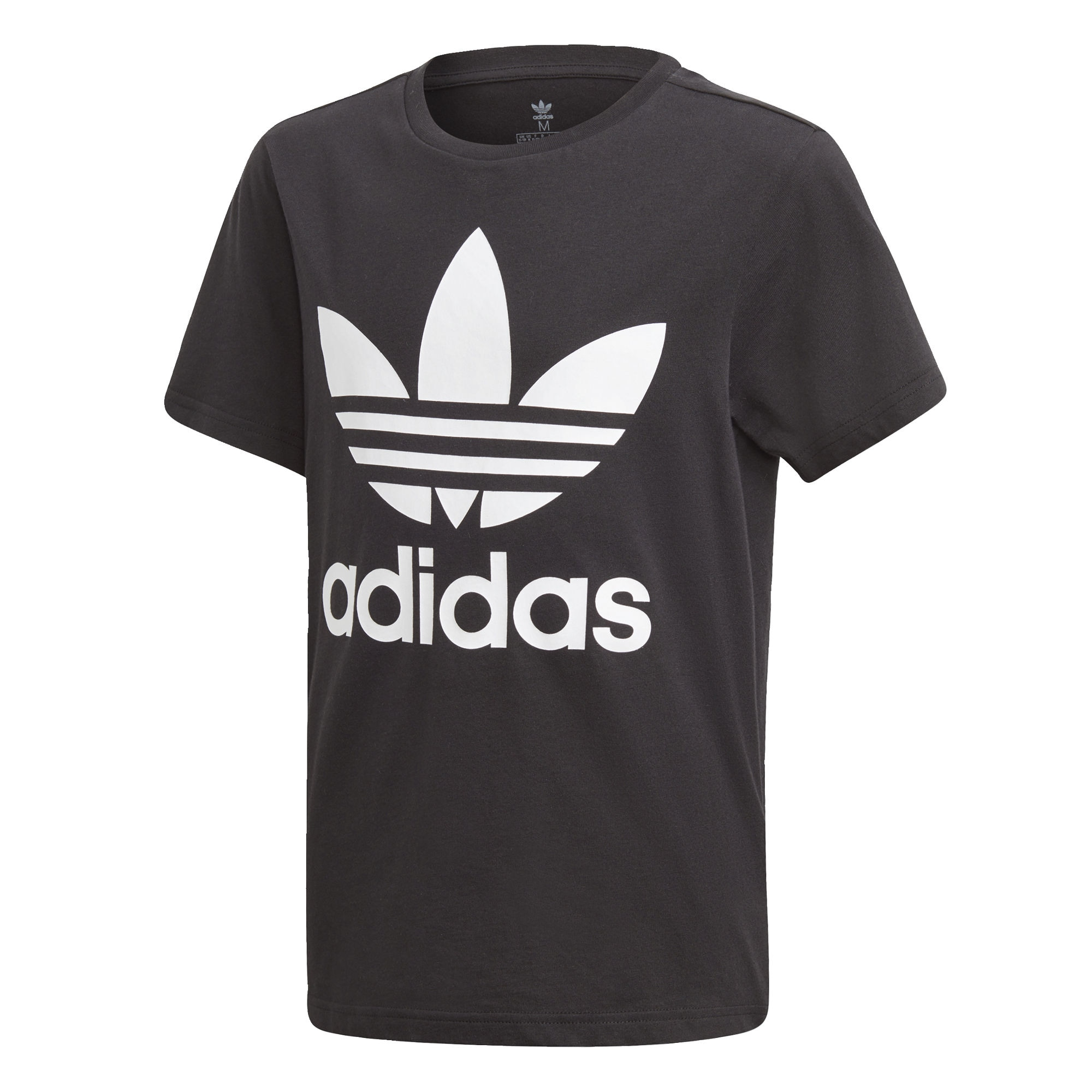ADIDAS ORIGINALS Marškinėliai 'Trefoil' juoda / balta