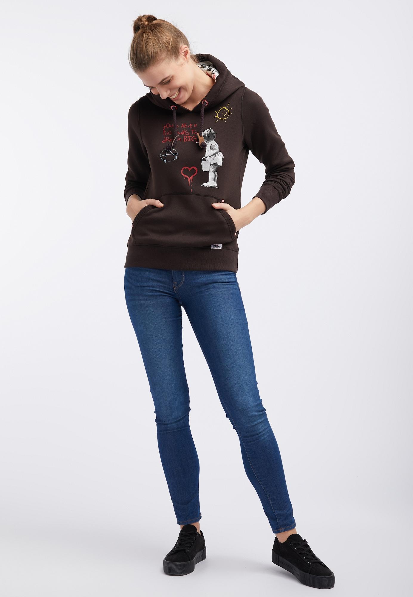 HOMEBASE, Damen Sweatshirt, bruin / gemengde kleuren