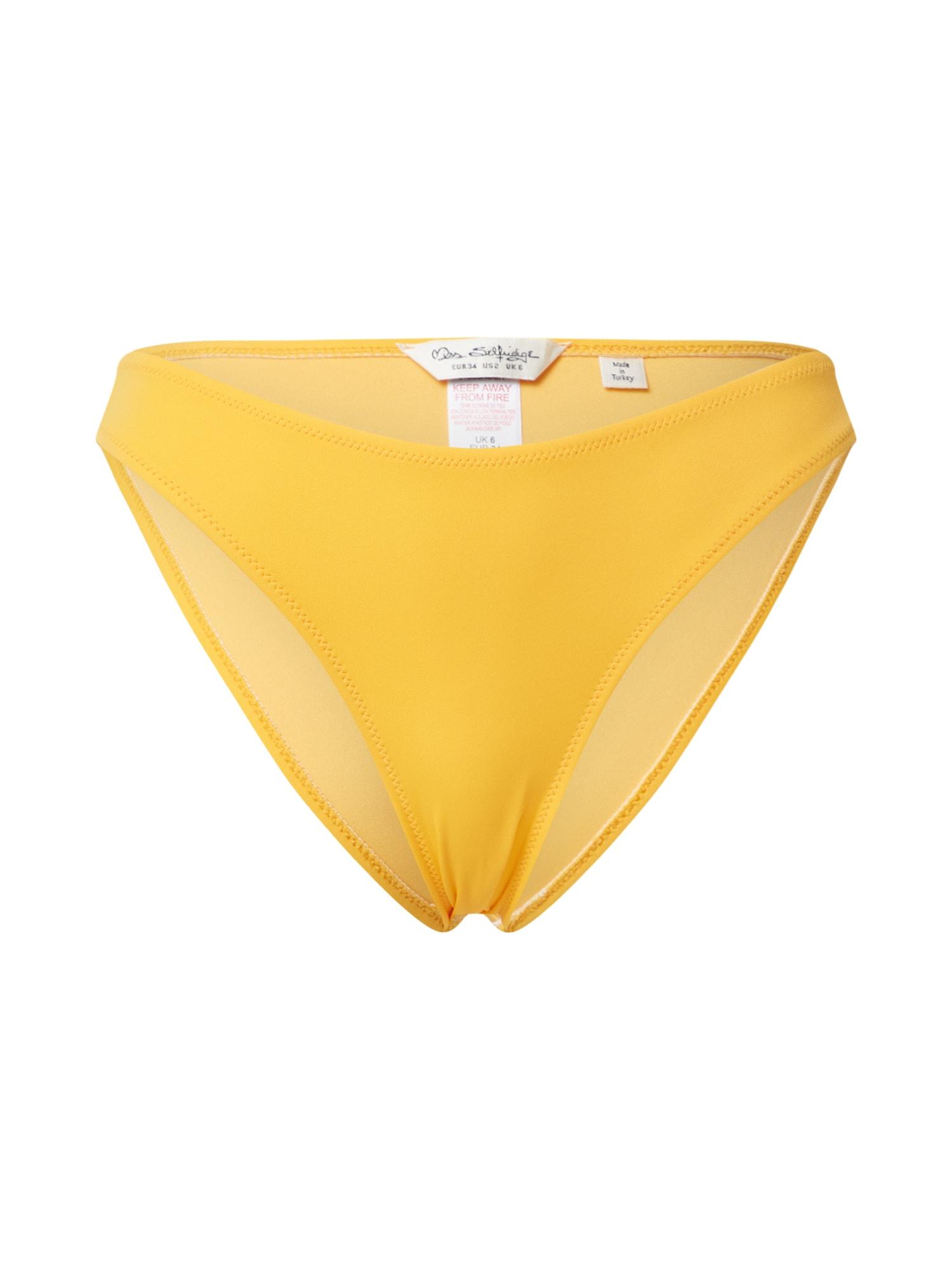 Miss Selfridge Bikinio kelnaitės geltona