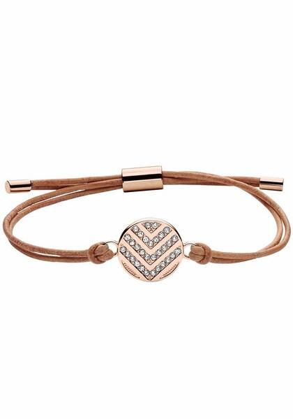 Armbaender für Frauen - FOSSIL Armband 'VINTAGE GLITZ, JF02746791' hellbraun rosegold weiß  - Onlineshop ABOUT YOU