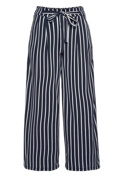 Hosen für Frauen - ANISTON Culotte marine weiß  - Onlineshop ABOUT YOU