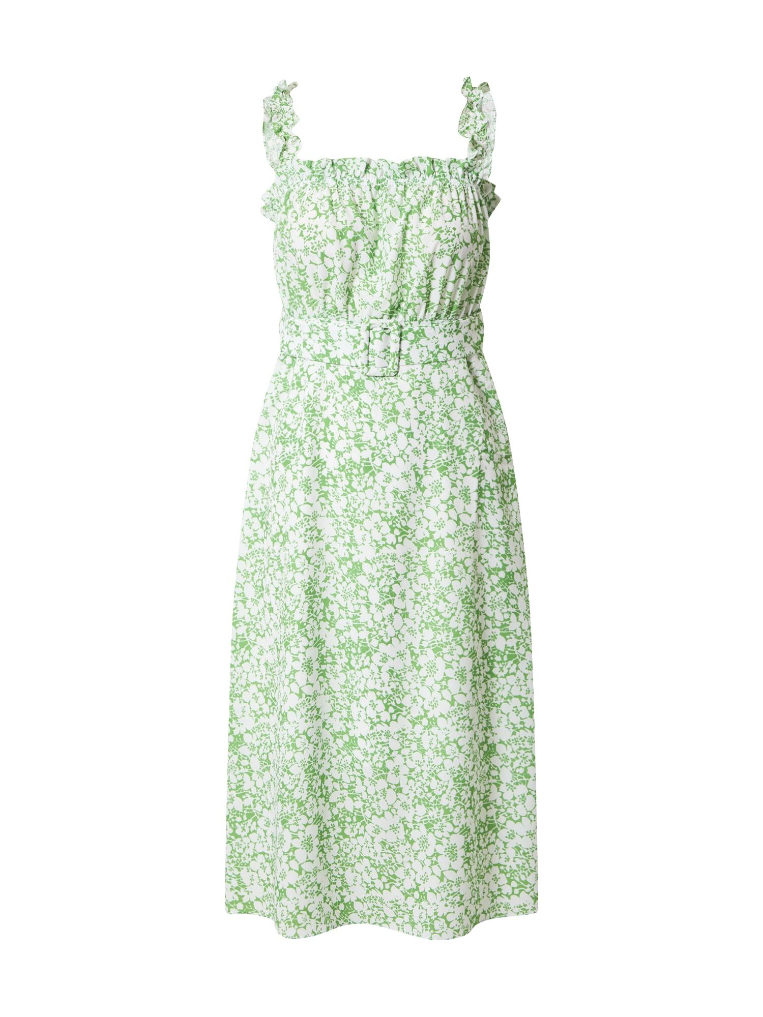Trendyol Suknelė žalia / balta