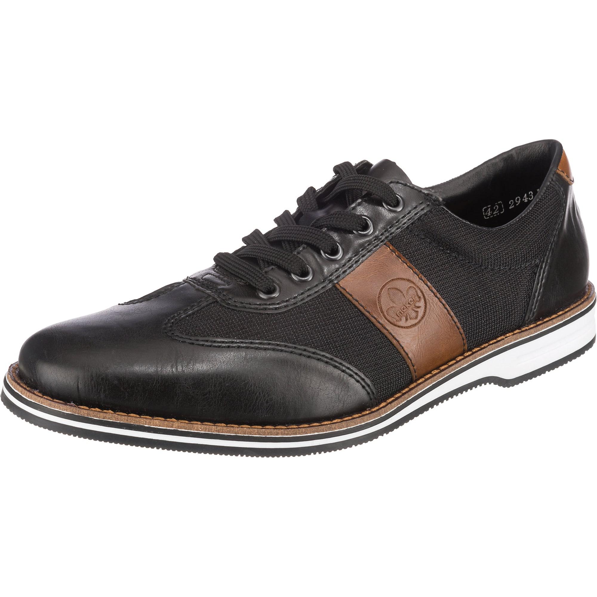 RIEKER Fűzős cipő  fekete / zerge
