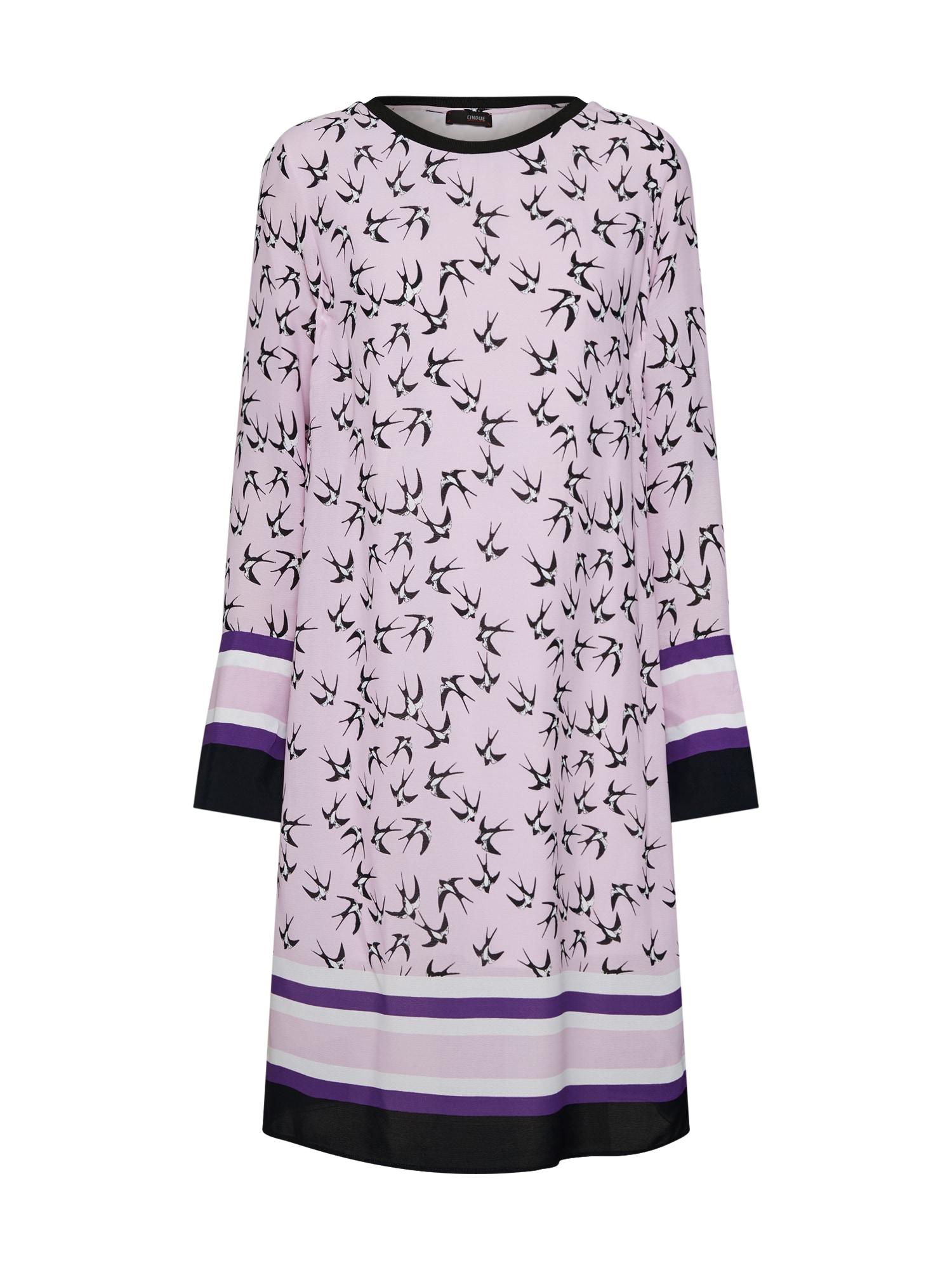 Šaty CIDINA tmavě fialová růžová černá CINQUE