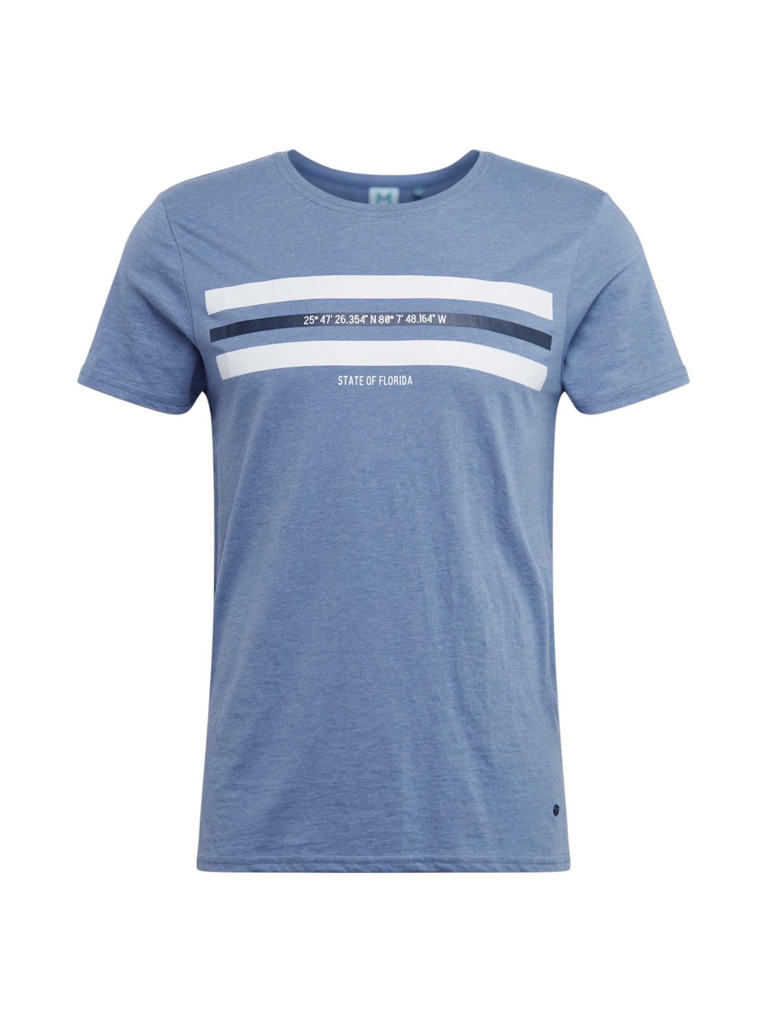 Hailys Men Marškinėliai mėlyna dūmų spalva / balta