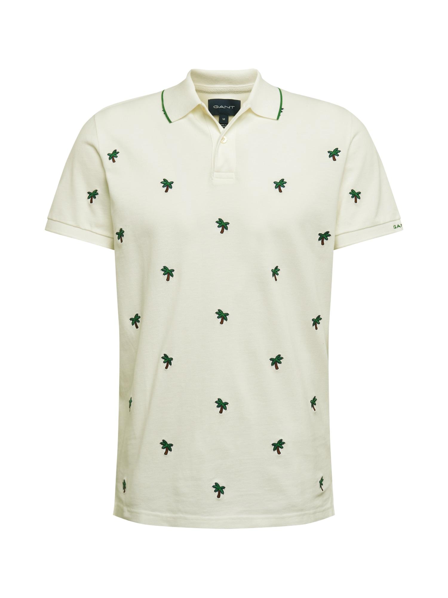 GANT Marškinėliai balta / žalia