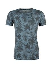 Q/S Designed By Herren Vintage-Shirt mit Exotic-Print blau,schwarz | 04056523747232