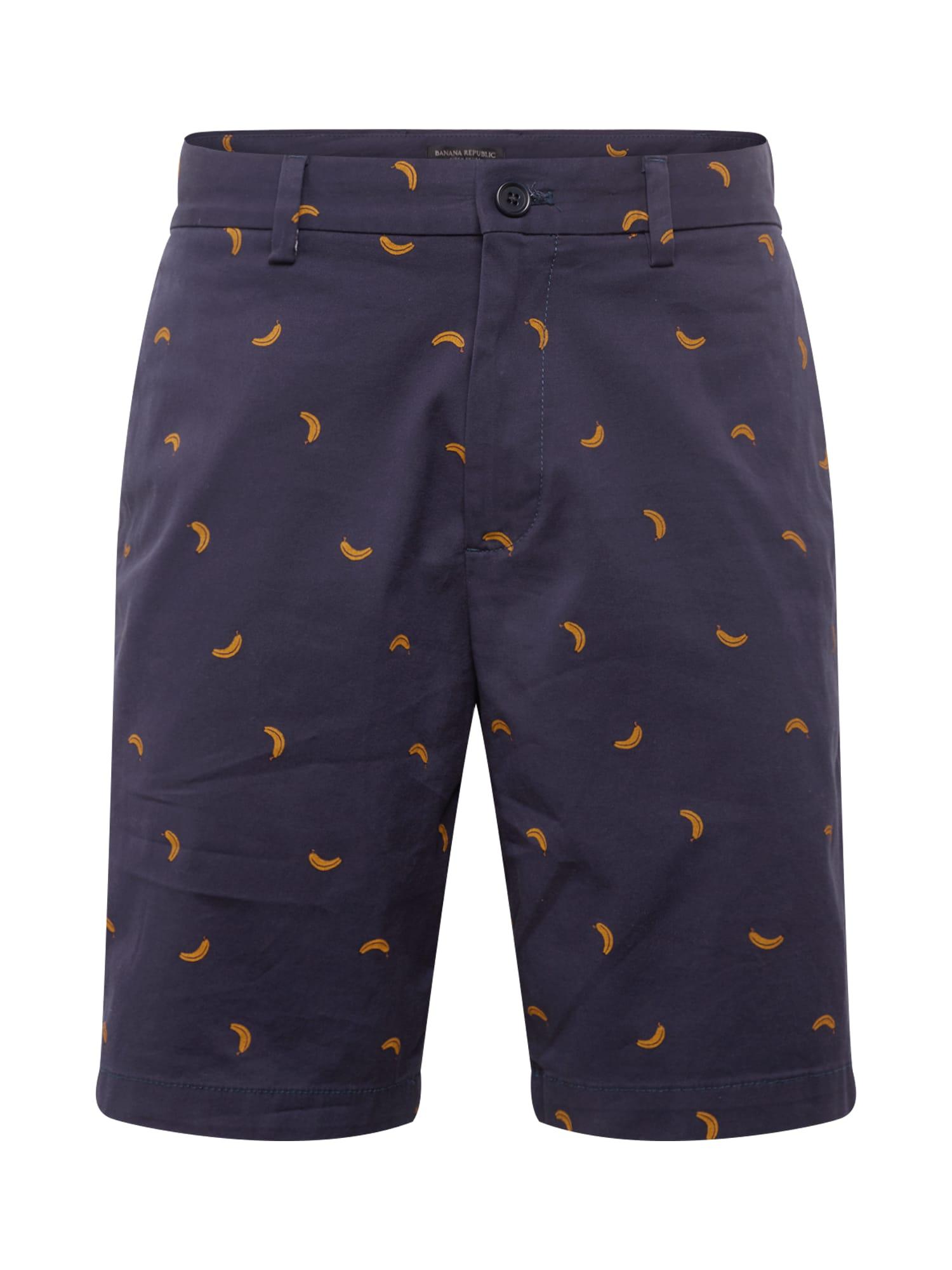 Chino kalhoty AIDEN 9 tmavě modrá žlutá Banana Republic