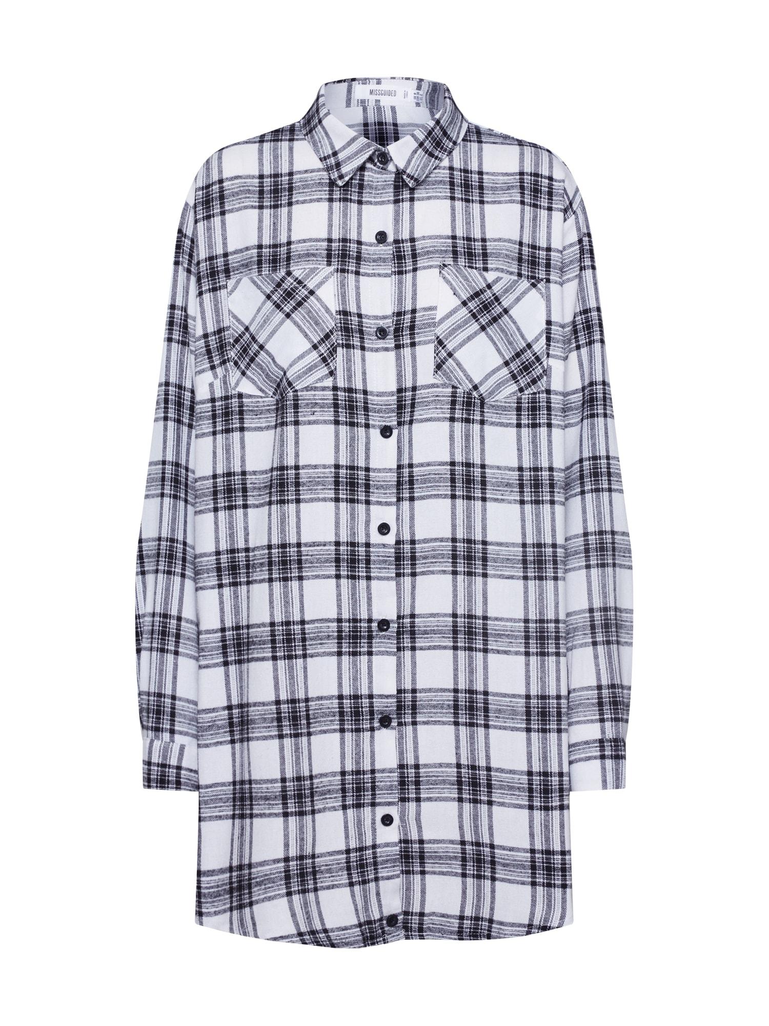 Missguided Bluză  negru / alb