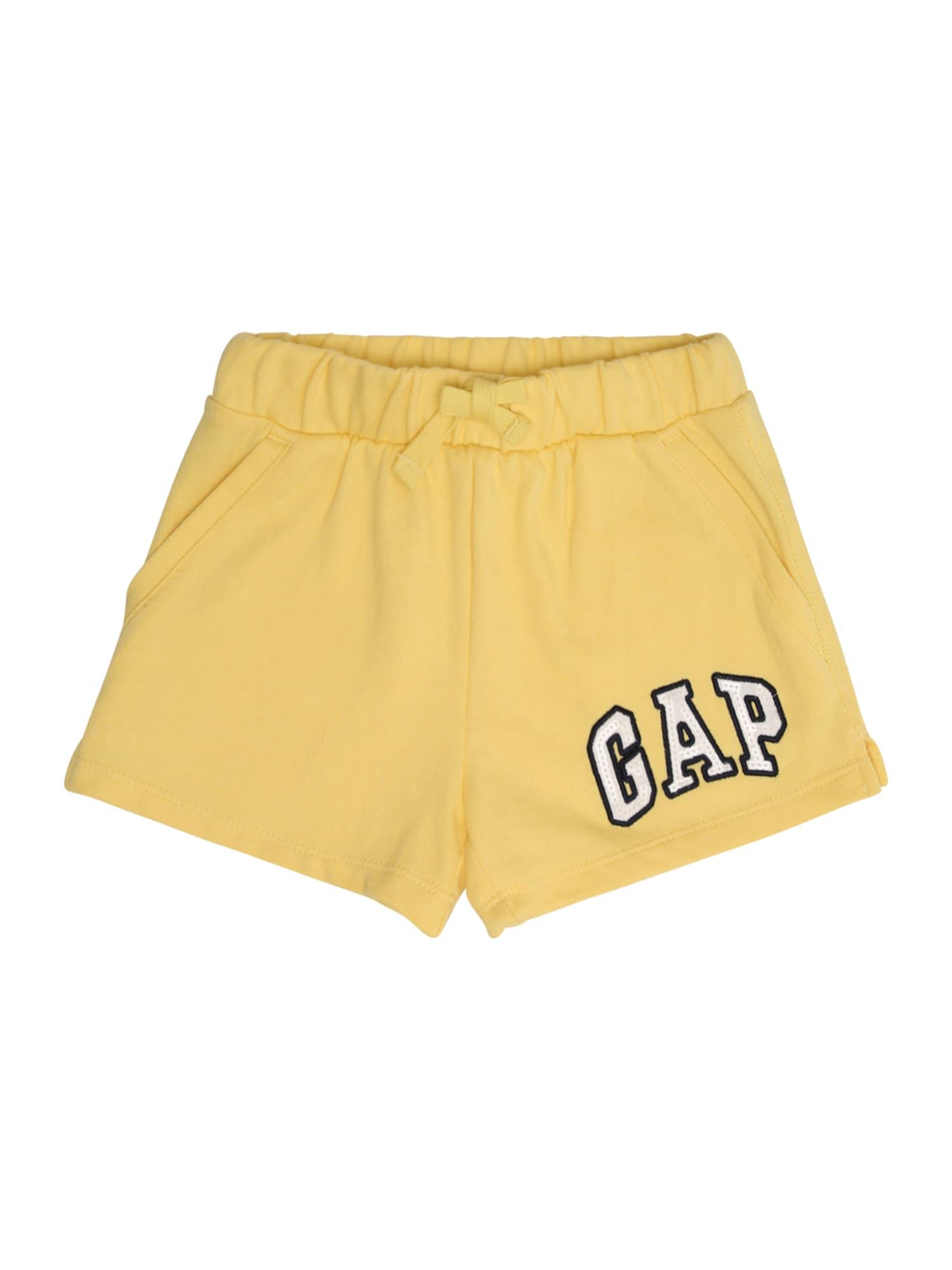 Kalhoty V-LOGO SHORT žlutá GAP