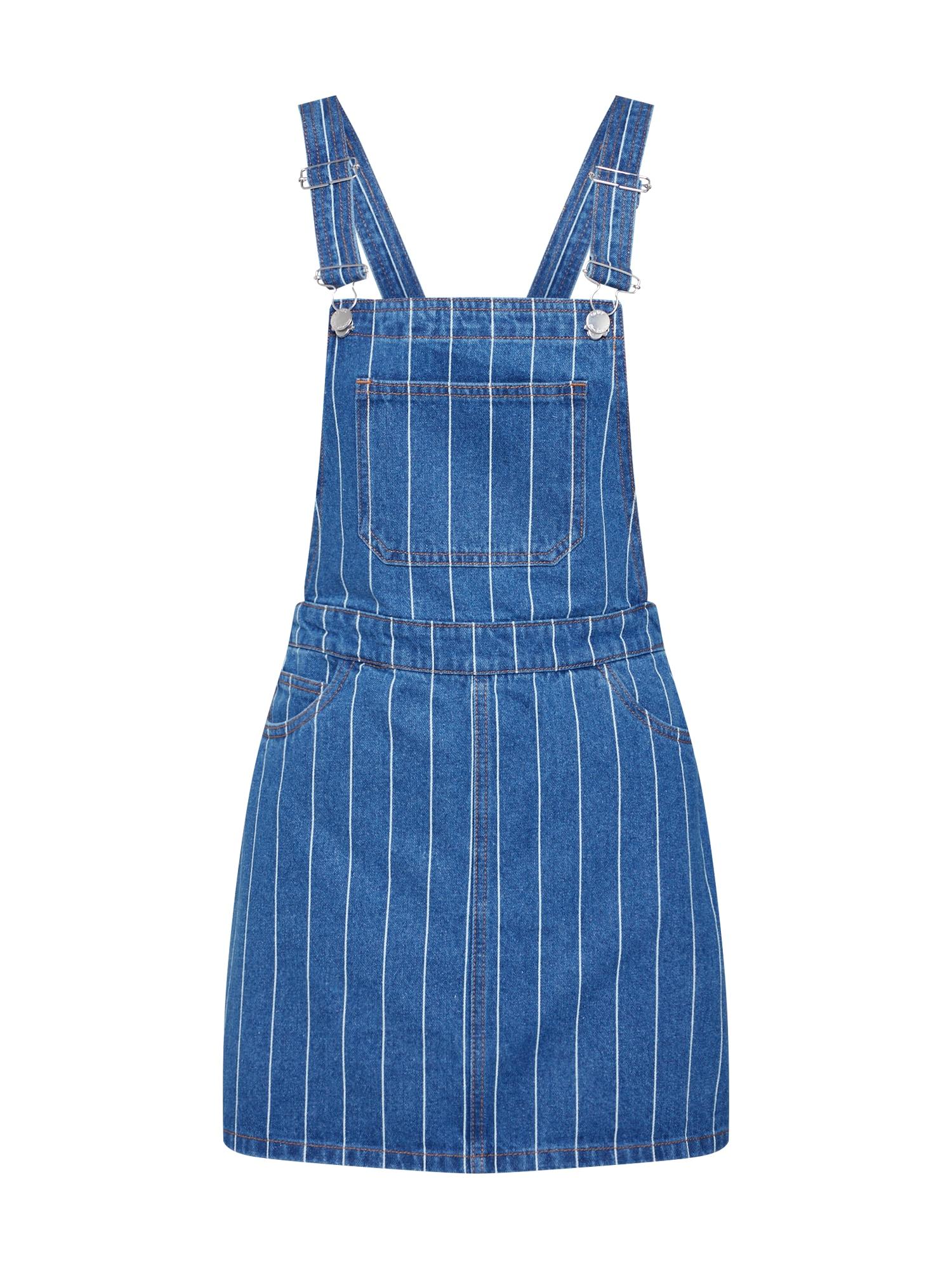 Laclová sukně onyDINA HW MB STRIPE SPENCER DNM modrá džínovina bílá ONLY