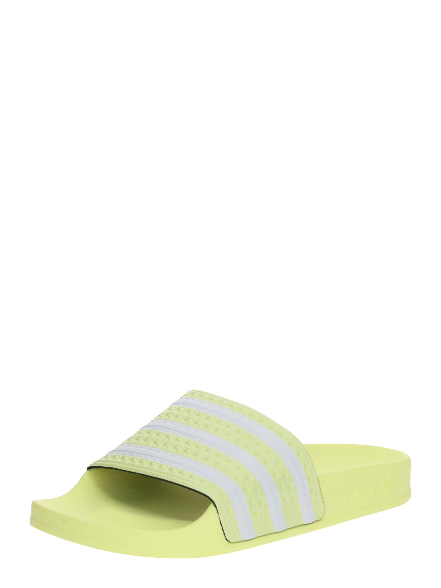 ADIDAS ORIGINALS Flip-flops 'ADILETTE'  galben / alb