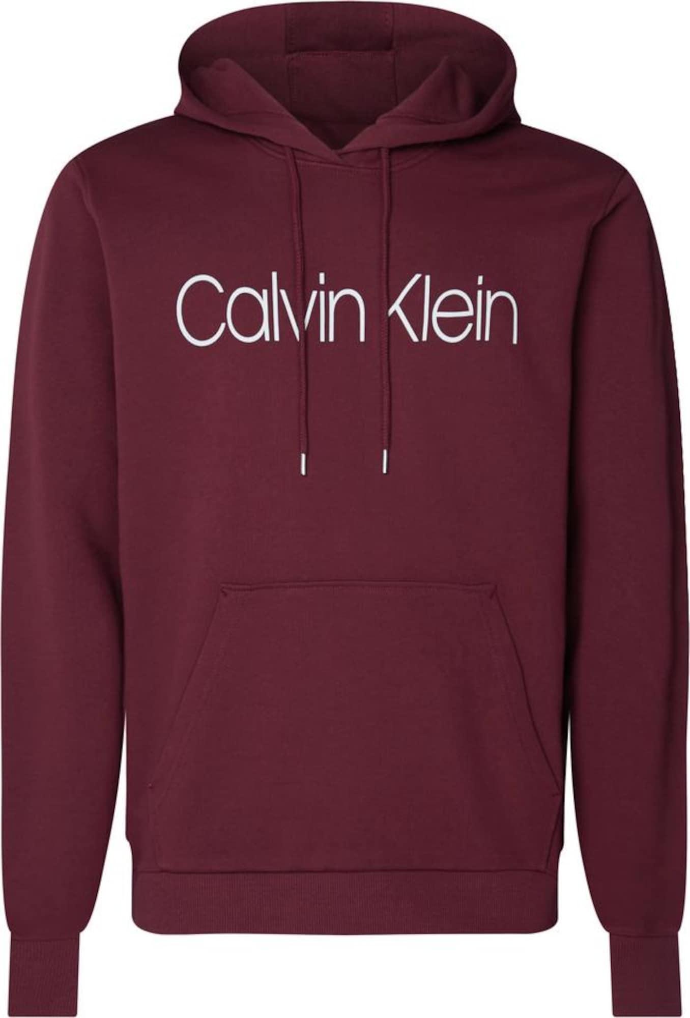 Calvin Klein Mikina  biela / bordová