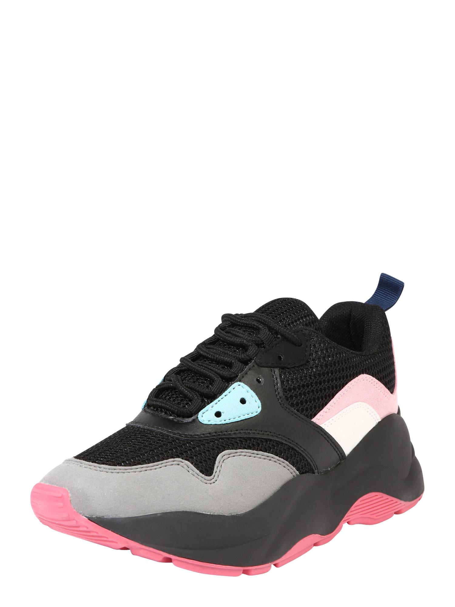 ONLY Tenisky 'STORM'  černá / šedá / pink