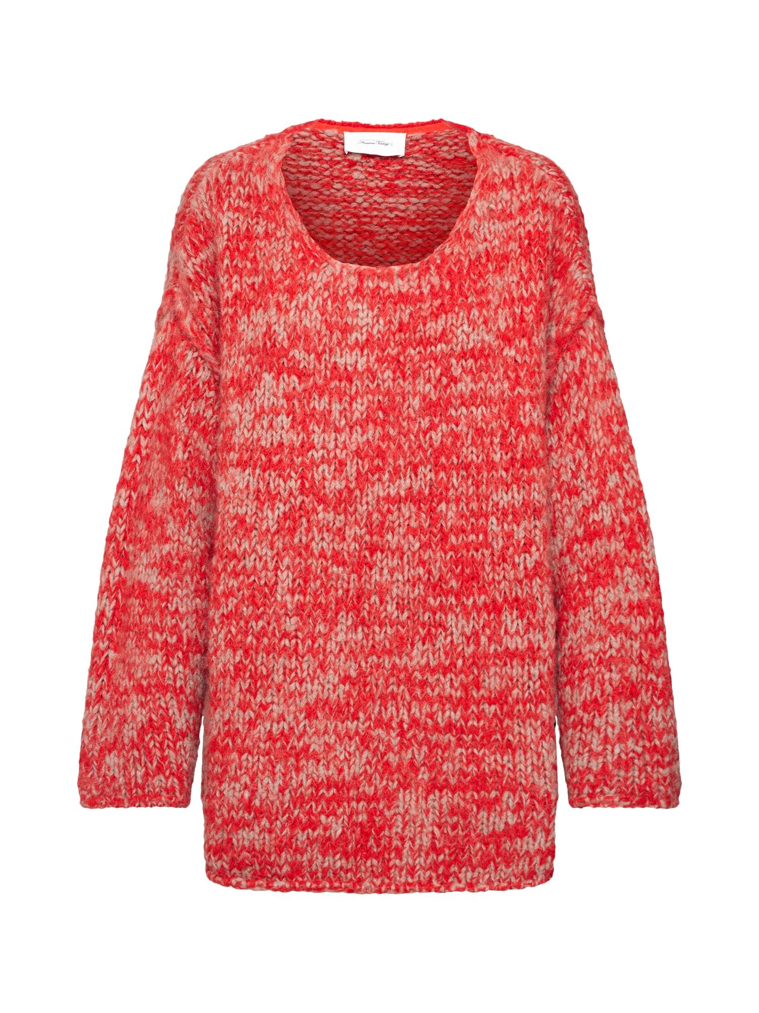 AMERICAN VINTAGE Megztinis smėlio / raudona