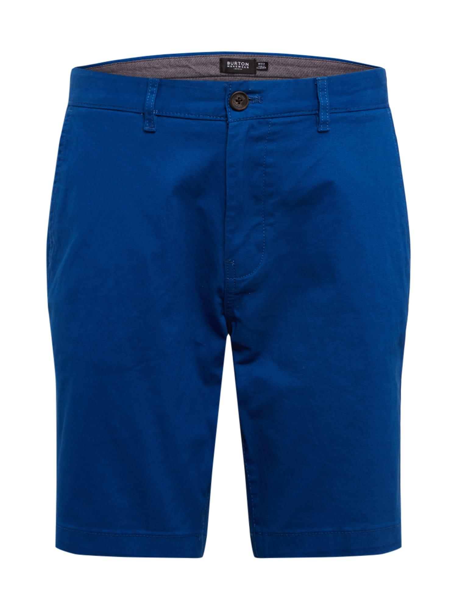 BURTON MENSWEAR LONDON Chino stiliaus kelnės 'MOROCCAN BLU CHINO S' mėlyna