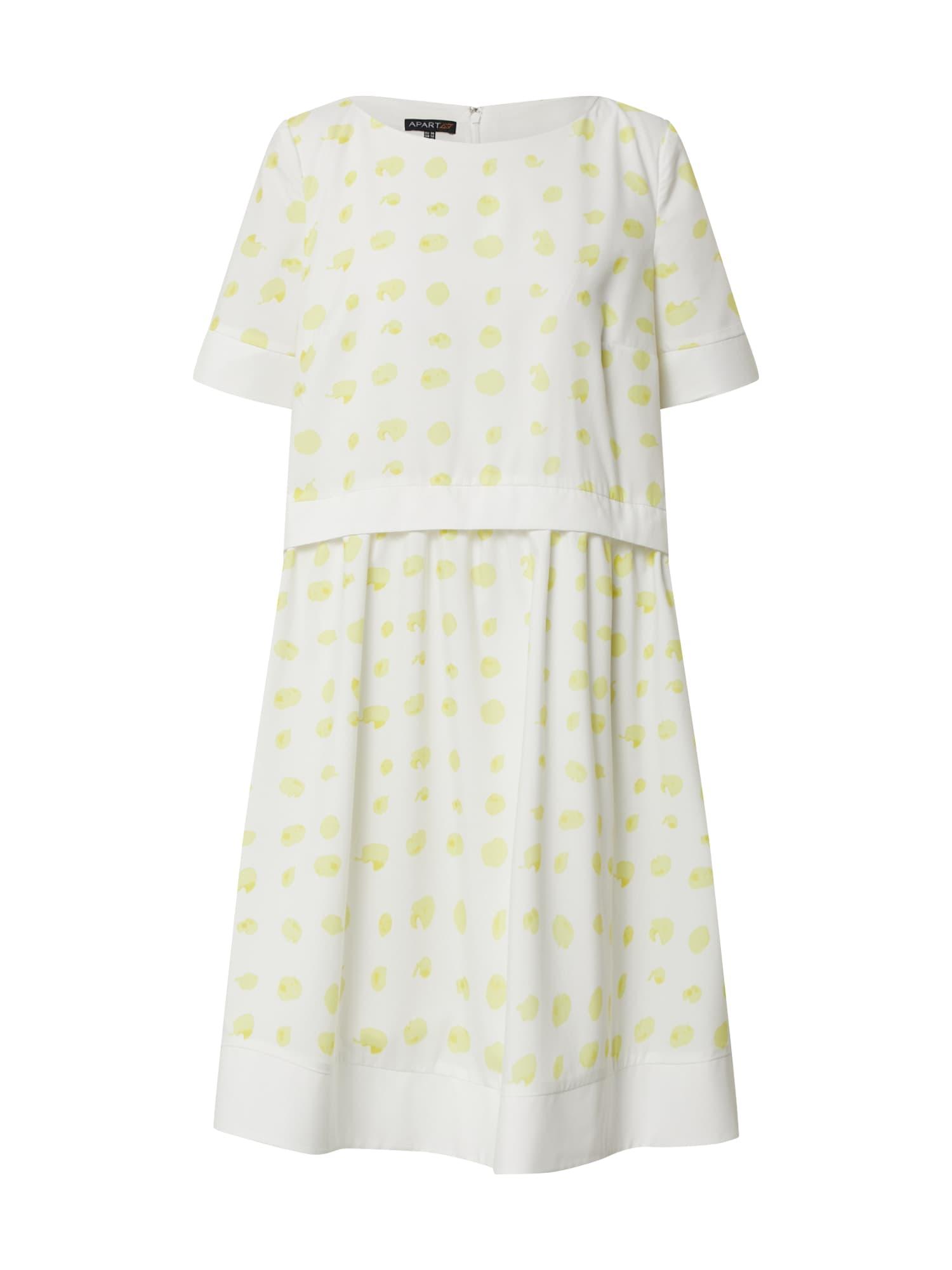 APART Vasarinė suknelė balta / geltona